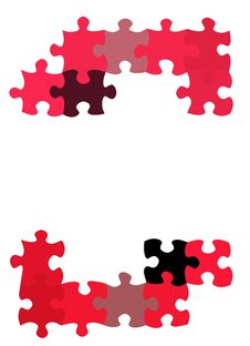 Free Puzzle Pieces Pattern Royalty Free Stock Images - 8640619