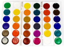 Free The Big Set Of Water Colour Paints Royalty Free Stock Photo - 8640685