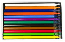 Free Twelve Multi-coloured Pencils Royalty Free Stock Image - 8640866