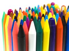Free The Children S Color Wax And Oil Pencils Stock Photos - 8641123