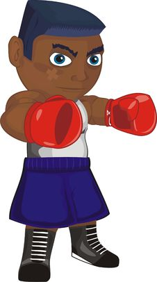 Free Boxer In Attack Royalty Free Stock Photo - 8641125