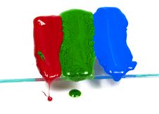 Free The Wax Of Three Primary Colours Royalty Free Stock Images - 8641239