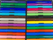 Free The Color Felt-tip Pens Royalty Free Stock Photography - 8641317