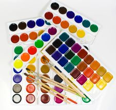 Some Brushes Royalty Free Stock Images