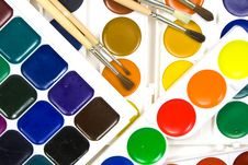 Free Fluorescent And Usual Water Color, Some Brushes Royalty Free Stock Photo - 8641925