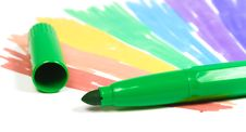 Free Green Felt-tip Pen With Removed Cap Stock Image - 8642121