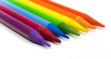 Rainbow From Color Pencils Stock Image