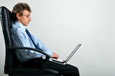 Free Businessman Using Laptop Royalty Free Stock Photos - 8642258