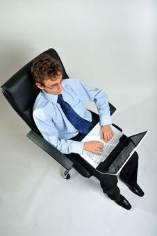 Free Businessman Using Laptop Stock Images - 8642264