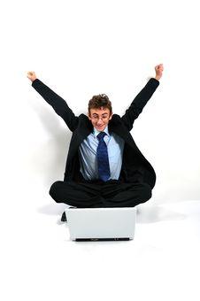 Businessman Cheering Stock Photos