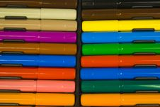 Multi-colour Set Of Felt-tip Pens Royalty Free Stock Photos