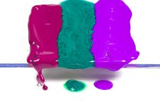 Free Dripping Wax Of Three Colours Royalty Free Stock Image - 8642626