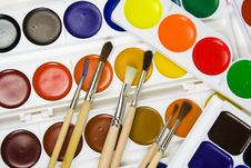 Free Set Of Brushes On A Background Stock Images - 8642734