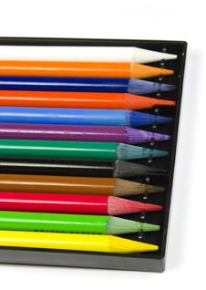 Set Of Color Woodless Pencils Royalty Free Stock Photography
