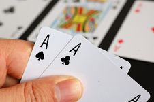 Poker - Pocket Aces Stock Photo