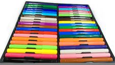 Set Of Felt-tip Pens Stock Images