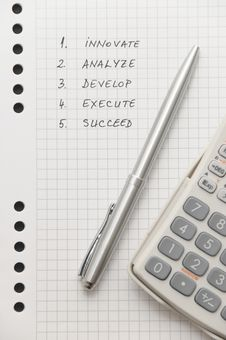 Free Elegant Silver Pen And Scientific Calculator Royalty Free Stock Images - 8643789