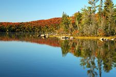 Free Beautiful Lake Reflections In The Fall Stock Photography - 8643792