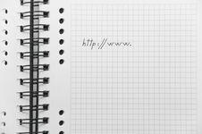 Free Beginning Of Internet Address On Notebook Royalty Free Stock Photos - 8643868