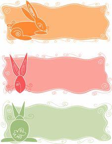 Free Bunny Text Panels Stock Photography - 8644102