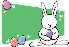 Free Easter Bunny With Text Area Royalty Free Stock Image - 8644136