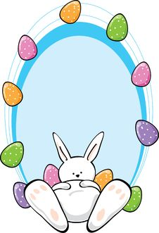 Free Easter Bunny With Text Area Stock Photo - 8644140