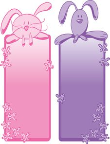 Free Bunny Banners Royalty Free Stock Images - 8644149