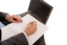 Free Work On The Laptop Royalty Free Stock Photo - 8644375