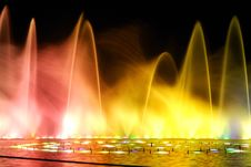 Free Night Fountain_2 Stock Images - 8645174