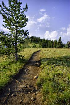 Ridge Hiking Path Stock Photography