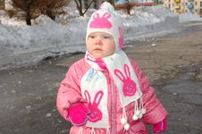 Free Pretty Little Girl In Winter Outerwear. Stock Photography - 8646032