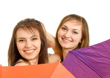 Free Two Girl With Umbrella Stock Images - 8646114