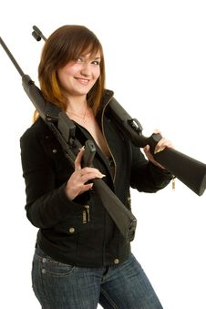 Free Gils With Guns Royalty Free Stock Images - 8646569