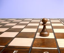 Free Pawn On Chessboard Royalty Free Stock Images - 8646899