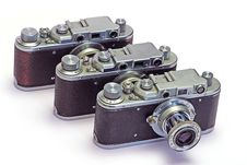 Free Old Photo Cameras Stock Photography - 8646922