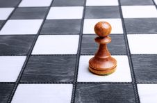 Free Pawn On Chessboard Royalty Free Stock Photos - 8646938