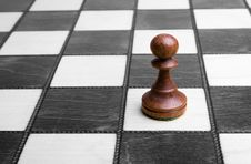 Free Pawn On Chessboard Royalty Free Stock Photos - 8646988