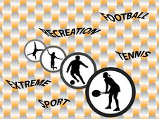 Free Sport Silhouettes Stock Image - 8647231