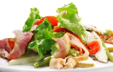 Vegetable Salad With Cheese And Bean Stock Image
