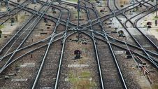 Free Railroad Tracks And Switches Stock Photo - 8647760