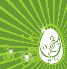 Free Easter Egg With Green Pattern Stock Photos - 8649353