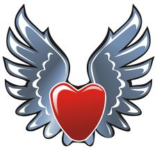 It S A Heart This Steel Wings Stock Photos