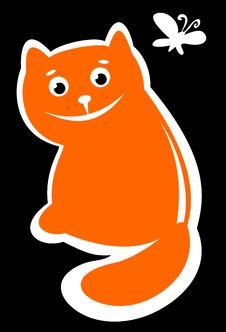 Free Happy Cat Royalty Free Stock Photo - 8649375