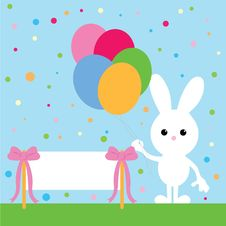 Free Party Bunny Stock Image - 8649721