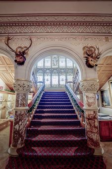 Free Cliffe Castle Staircase Royalty Free Stock Image - 86468256