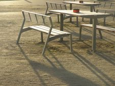 Free Empty Tables And Chairs Outdoors Stock Photos - 86472393