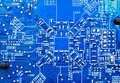 Free Blue Circuit Surface Stock Images - 8651054