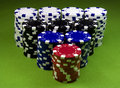 Free Very Big Casino Chips Stack Stock Photo - 8654110