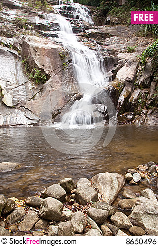 Free Waterfall In South Of Thailand. Royalty Free Stock Image - 8650496
