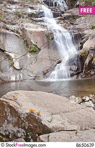 Free Waterfall In South Of Thailand. Royalty Free Stock Images - 8650639